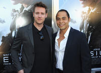 Director Neill Blomkamp and Jose Pablo Cantillo at the California premiere of