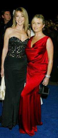 Cherie Lunghi and Tina Hobley at the 10th Anniversary National Television Awards.