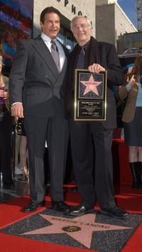 Peter Lupus and Martin Landau at the Hollywood Walk of Fame.