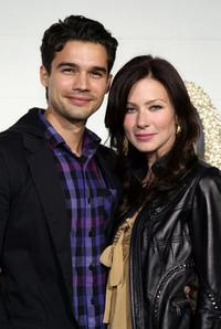 Steven Strait and Lynn Collins at the Chloe Los Angeles LA Boutique Opening Party.