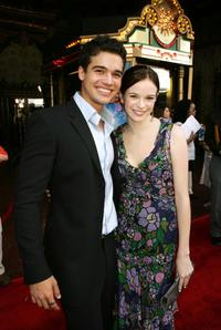 Steven Strait and Danielle Panabaker at the premiere of