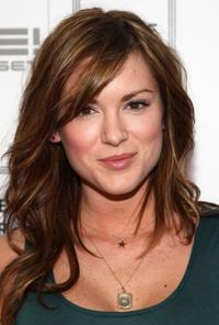 Danneel Harris at the Herve Leger by Max Azria Collection Launch party.