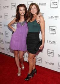 Hilarie Burton and Danneel Harris at the Herve Leger by Max Azria Collection Launch party.