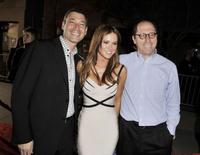 Producer Peter Jaysen, Danneel Harris and producer Charles Weinstock at the premiere of