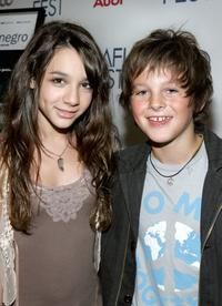 Hannah Marks and Ridge Canipe at the screening of