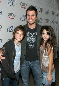 Ridge Canipe, Director Ariel Vromen and Hannah Marks at the screening of