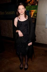 Flora Cross at the premiere of