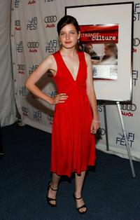 Flora Cross at the screening of