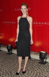 Vanessa Branch at the celebration for the opening of Garrard flagship store.