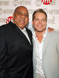 Barry Shabaka Henley and Wes Chatham at the California premiere of