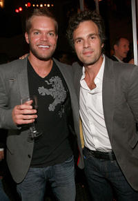 Wes Chatham and Mark Ruffalo at the In Style Magazine and The Hollywood Foreign Press Association Toronto International Film Festival party.