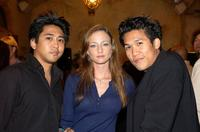 Dion, Katharine Towne and Dante Basco at the party of director John Singleton.