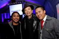 Dion Basco, James Hong and Dante Basco at the ImaginAsian Center opening.