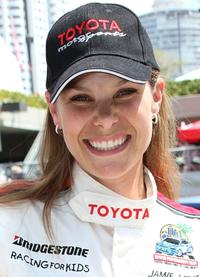 Jamie Little at the Toyota Grand Prix of Long Beach 32 Annual Pro/Celebrity Race.