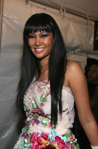 Kimora Lee Simmons in the W VIP lounge during Mercedes Benz Fashion Week in N.Y.