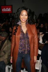 Kimora Lee Simmons at the Child Magazine Fall 2007 fashion show during Mercedes-Benz fashion Week in N.Y.