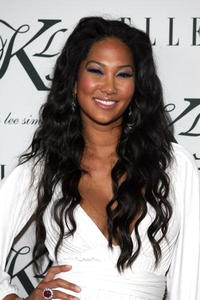 Kimora Lee Simmons arrives at her Debut KLS Collection party in Hollywood.