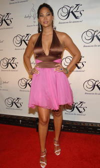 Kimora Lee Simmons at the Baby Phat fashion show after party in N.Y.
