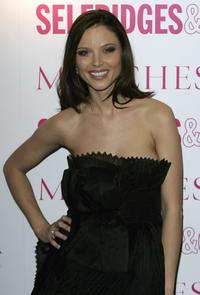 Georgina Chapman at the VIP launch party of the British couture label Marchesa's Spring Summer 2006 collection.