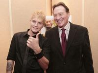 Toby Hemingway and producer Gary Lucchesi at the premiere of