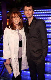 Catherine Tate and David Tennant and at the press launch of