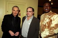 Billy Bob Thornton, Producer Bob Weinstein and Bernie Mac at the premiere of