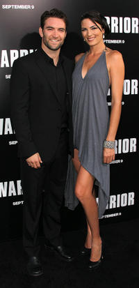 Sam Hargrave and Monique Ganderton at the California premiere of