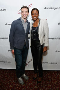 Michael Urie and Patina Miller at the 2013 Drama League Awards.