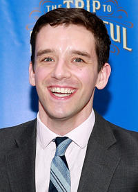 Michael Urie at the Broadway opening night of