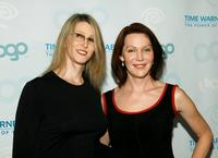 Andrea James and Calpernia Addams at the launch party for MTV Network's LOGO Channel on Time Warner Cable.