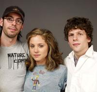Jesse Eisenberg, Margarita Levieva and Martin Starr at the 2009 Sundance Film Festival.