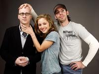 Director Greg Mottola, Margarita Levieva and Jesse Eisenberg at the 2009 Sundance Film Festival.