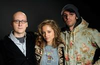 Director Greg Mottola, Margarita Levieva and Jesse Eisenberg at the Hollywood Life House.