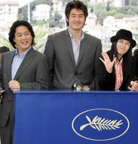 Park Chan Wook, Yoo Ji-Tae and Gang Hye Jung at the photocall of