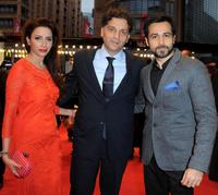 Prashita Chaudhary, Danis Tanovic and Emraan Hashmi at the premiere of