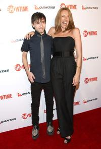 Keir Gilchrist and Toni Collette at the premiere of