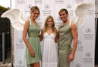 Nikki Griffin with the Gran Centenario angels at the Mercedes Benz Fashion Week.