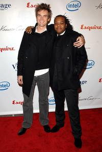 Tyler Hilton and Darwin Johnson at the Esquie Magazine and Village Academies event honoring Bill Cosby.