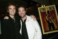 Tyler Hilton and Larry bagby at the DVD Release Celebration for