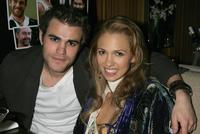Paul Wesley and Marnette Patterson at the after party of the premiere of