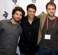 Jake Hoffman, Ralph Macchio and Jordan Galland at the screening of