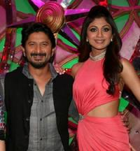 Arshad Warsi and Shilpa Shetty at the Indian reality television dance show