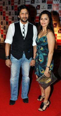 Arshad Warsi and Maria at the Film Fare Awards.