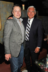 Elon Musk and General Motors executive Bob Lutz at the New York premiere of