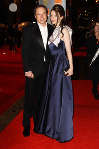 Elon Musk and Talulah Riley at the Orange British Academy Film Awards 2011 in England.