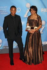 Paul James and Guest at the 40th NAACP Image Awards.