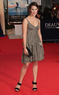 Julie Fournier at the premiere of