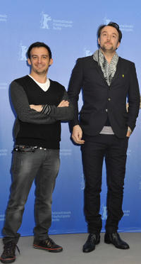 Co-producer Alejandro Amenabar and Carlos Leal at the photocall of