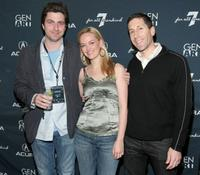 Director Jay DiPietro, Jess Weixler and Michael Goduti at the 14th Annual Gen Art Film Festival.