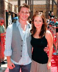 Matt Lanter and Catherine Taber at the premiere of